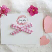 Kokardka mała- Różowa krateczka